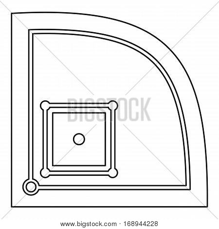 American baseball field icon. Outline illustration of american baseball field vector icon for web