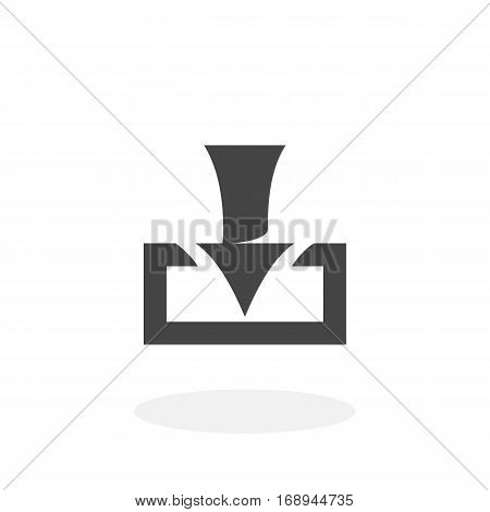 Download icon isolated on white background. Download vector logo. Flat design style.