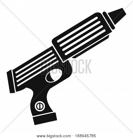 Plastic gun toy icon. Simple illustration of plastic gun toy vector icon for web