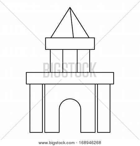 Castle toy blocks icon. Outline illustration of castle toy blocks vector icon for web