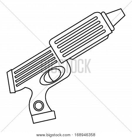 Water gun toy icon. Outline illustration of water gun toy vector icon for web