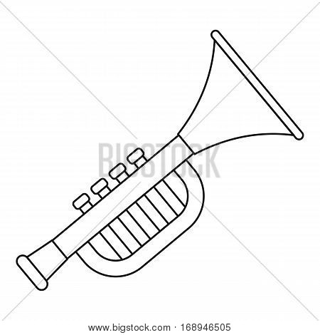 Trumpet toy for kids icon. Outline illustration of trumpet toy for kids vector icon for web