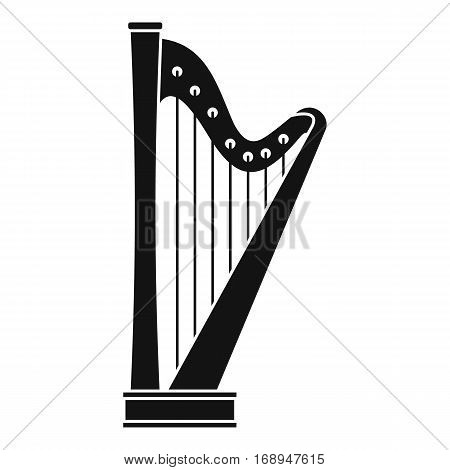 Harp icon. Simple illustration of harp vector icon for web