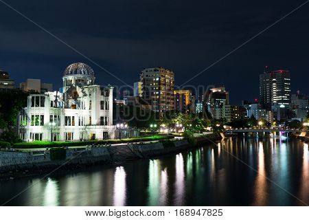 Atomic Bomb Dome in Hiroshima of Japan