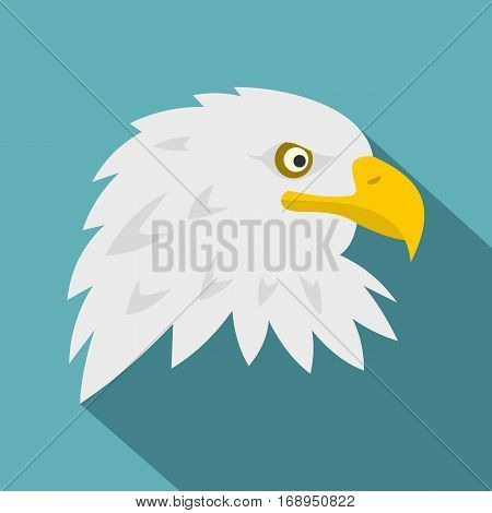 Eagle icon. Flat illustration of eagle vector icon for web