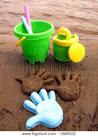Sandcakes On The Beach