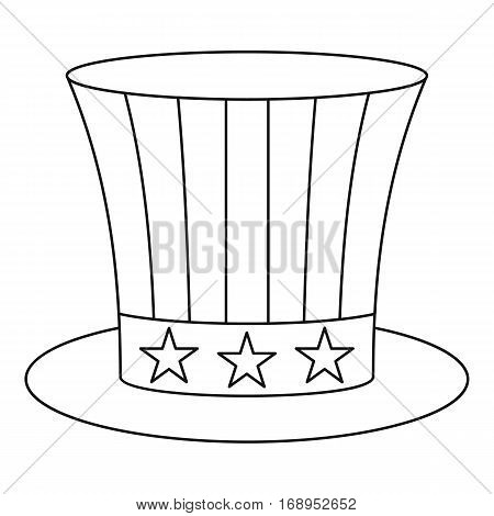 Uncle sam hat icon. Outline illustration of uncle sam hat vector icon for web