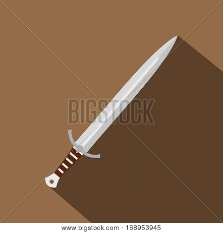 Long sword icon. Flat illustration of long sword vector icon for web