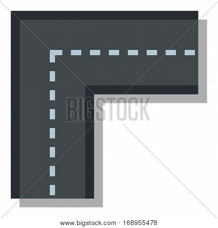 Turning road icon. Flat illustration of turning road vector icon for web