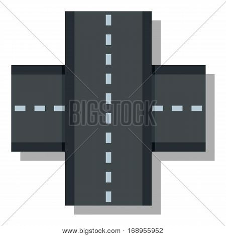 Two roads icon. Flat illustration of two roads vector icon for web