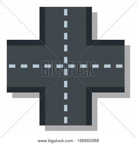 Crossroad icon. Flat illustration of crossroad vector icon for web