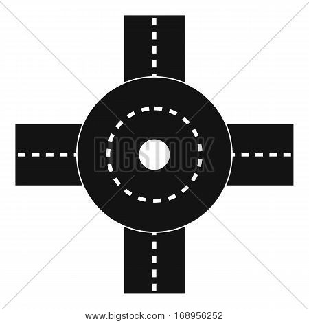 Big road junction icon. Simple illustration of big road junction vector icon for web