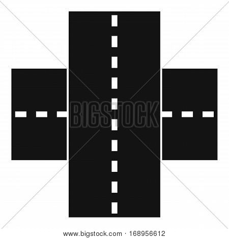 Two roads icon. Simple illustration of two roads vector icon for web