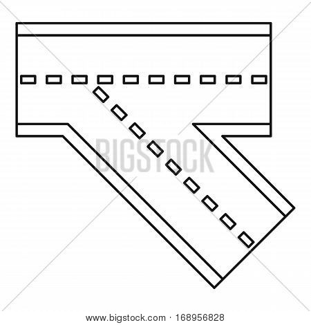 Turn road icon. Outline illustration of turn road vector icon for web