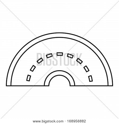 Round turning road icon. Outline illustration of round turning road vector icon for web