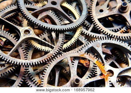 many old sprockets - parts of broken watches