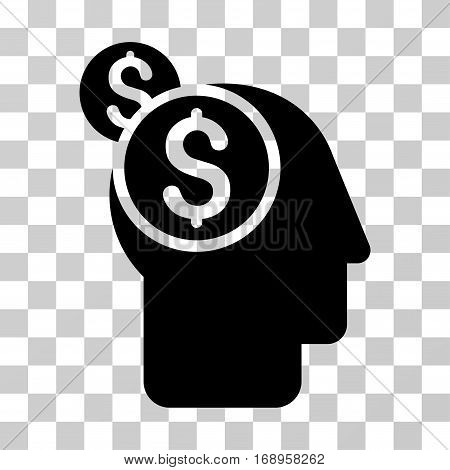 Business Thinking icon. Vector illustration style is flat iconic symbol, black color, transparent background. Designed for web and software interfaces.