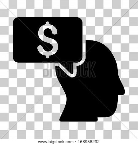 Businessman Idea icon. Vector illustration style is flat iconic symbol, black color, transparent background. Designed for web and software interfaces.