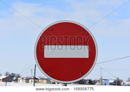 traffic sign prohibiting the movement in the specified direction