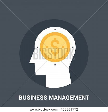 Abstract vector illustration of business management icon concept