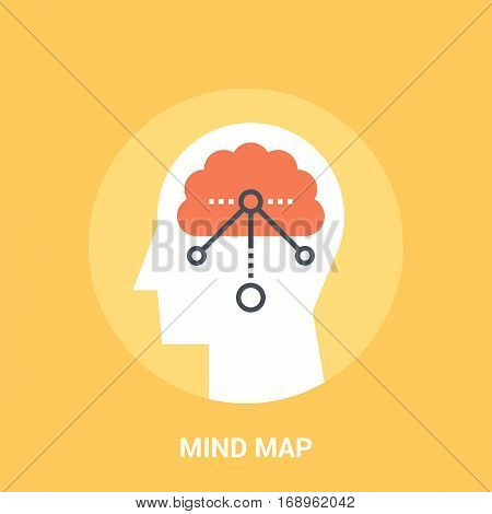 Abstract vector illustration of mind map icon concept