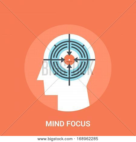 Abstract vector illustration of mind focus icon concept