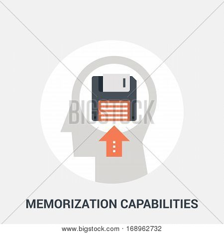 Abstract vector illustration of memorization capabilities icon concept