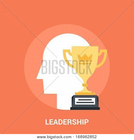 Abstract vector illustration of leadership icon concept