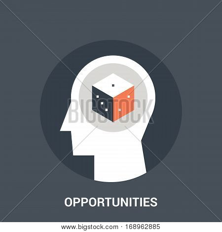 Abstract vector illustration of opportunities icon concept