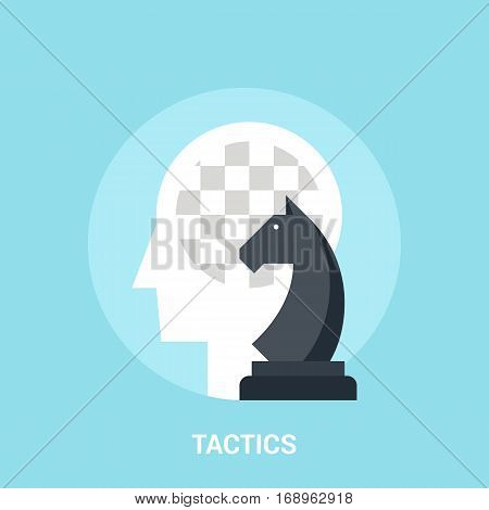 Abstract vector illustration of tactics icon concept