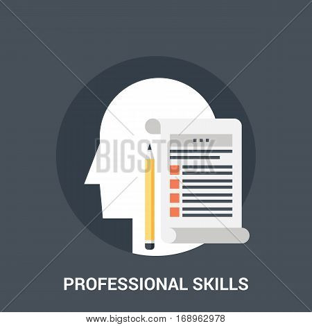 Abstract vector illustration of professional skills icon concept
