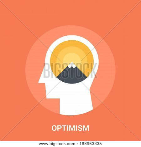 Abstract vector illustration of optimism icon concept