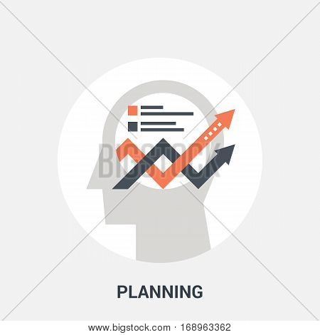Abstract vector illustration of planning icon concept