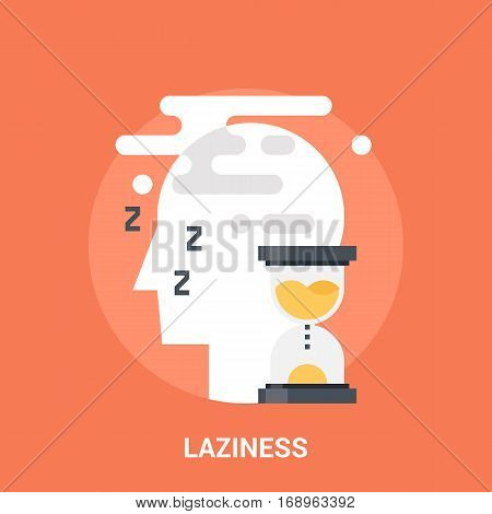 Abstract vector illustration of laziness icon concept