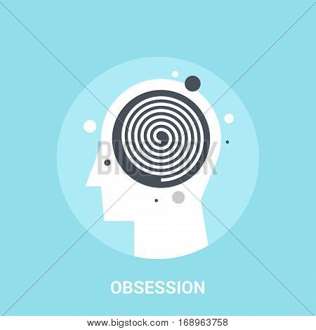 Abstract vector illustration of obsession icon concept