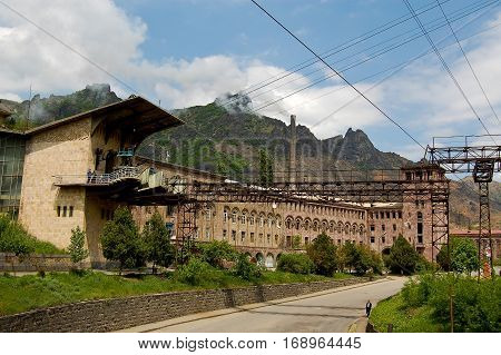 old factory dating back to the Soviet Union times in Armeniaarmenia