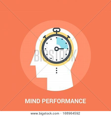 Abstract vector illustration of mind performance icon concept