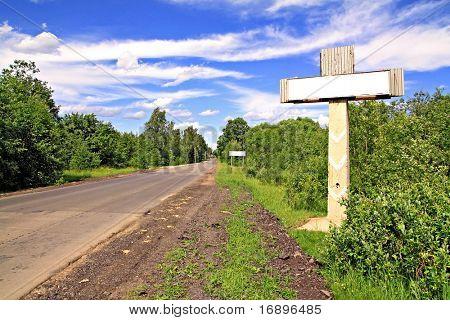 sign near roads