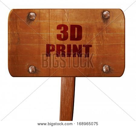 3d print, 3D rendering, text on wooden sign