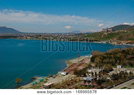 nice Lake Sevan in Armenia near yeveran