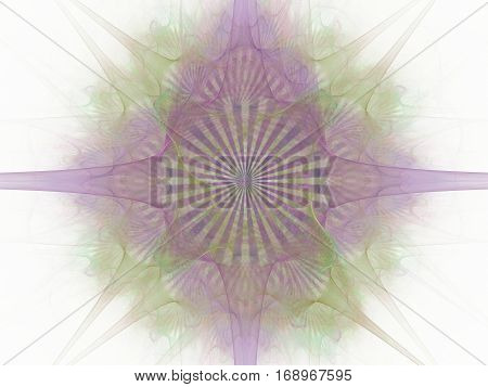 3D Rendering With Lilac Abstract Fractal Pattern