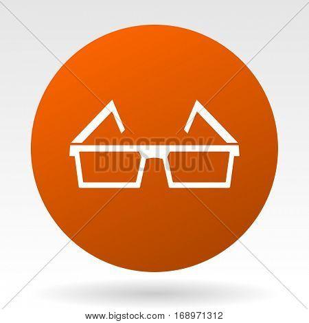 3d glasses vector icon.