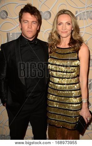 LOS ANGELES - JAN 8:  Luke Hemsworth, Samantha Hemsworth at the HBO Golden Globes After-Party at Circa 55 at Beverly Hilton Hotel on January 8, 2017 in Beverly Hills, CA