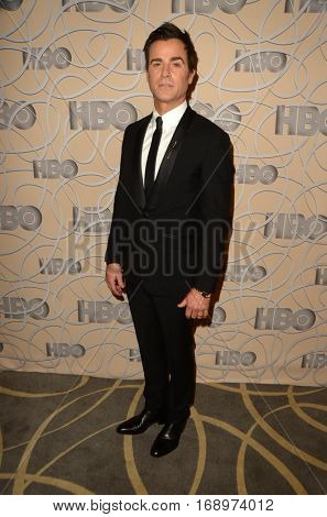 LOS ANGELES - JAN 8:  Justin Theroux at the HBO Golden Globes After-Party at Circa 55 at Beverly Hilton Hotel on January 8, 2017 in Beverly Hills, CA