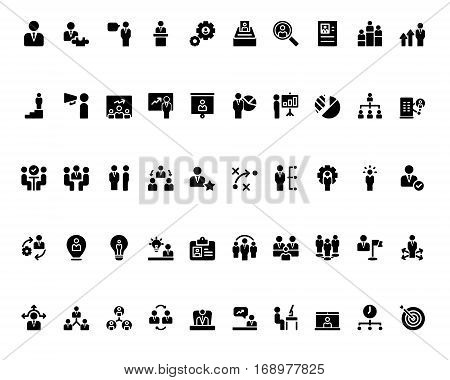 Stick figure. Business icons. Vector. Monochrome icons