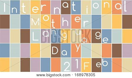 Vector illustration of a background for International Mother Language Day.