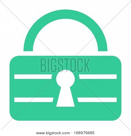 Use it in all your designs. Flat padlock safe icon lock sign password button. Quick and easy recolorable shape isolated from background. Vector illustration a graphic element for web internet design.