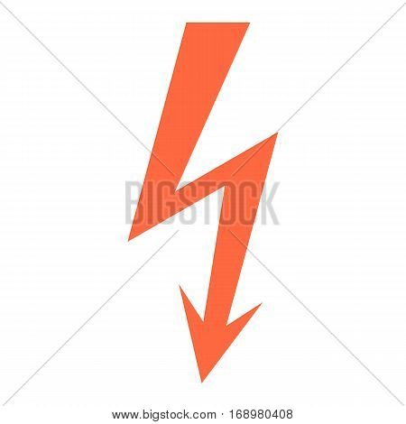 Use it in all your designs. Danger High voltage sign warning and hazard symbol. Quick and easy recolorable shape. Vector illustration a graphic element