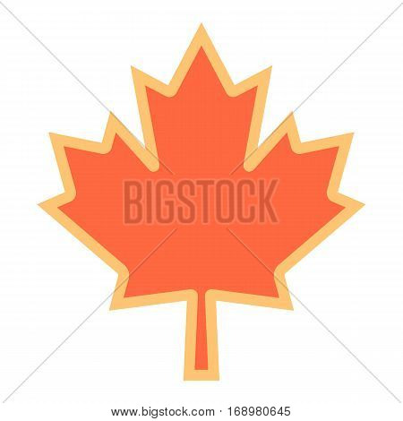 Use it in all your designs. Canadian maple leaf symbol national flag of Canada. Quick and easy recolorable shape. Vector illustration a graphic element