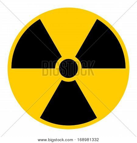 Use it in all your designs. Ionizing ionising radiation symbol attention danger warning sign. Quick and easy recolorable shape. Vector illustration a graphic element